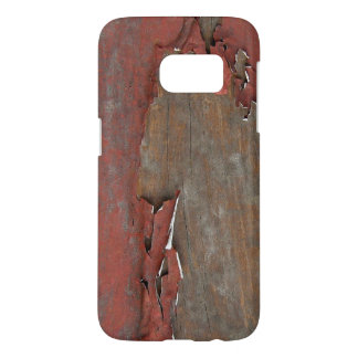 Peeling Red Paint Barn Wood Samsung Galaxy S7 Case