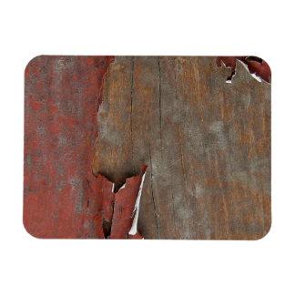 Peeling Red Paint on Old Barn Wood Rectangular Photo Magnet