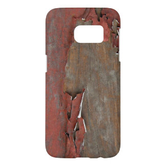 Peeling Red Paint on Old Barn Wood Samsung Galaxy S7 Case