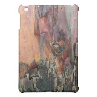 Peeling tree bark iPad case, orange and grey iPad Mini Cover