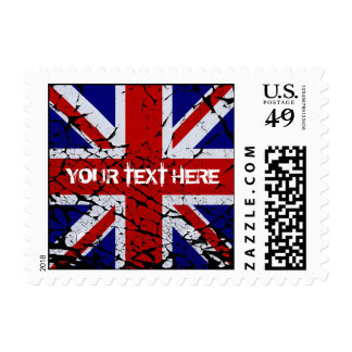 Peeling Union Jack Flag of The UK Postage Stamps