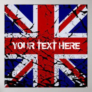 Peeling Union Jack Flag of The UK Poster