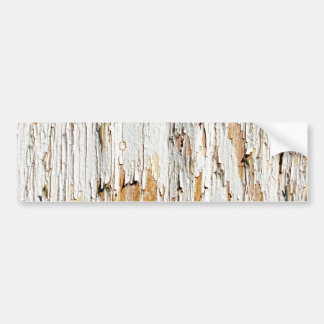 Peeling White Paint Abstract Car Bumper Sticker