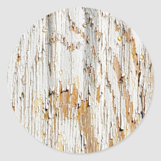 Peeling White Paint Abstract Classic Round Sticker