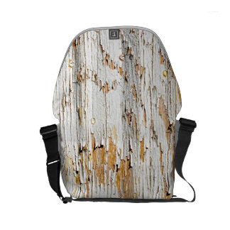 Peeling White Paint Abstract Photo Small Messenger Bag