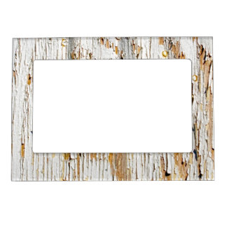 Peeling White Paint Abstract Photograph Magnetic Frame
