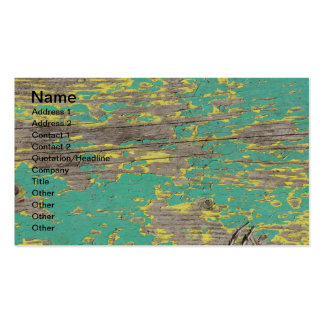 Peeling Yellow and Green Paint on Wood Double-Sided Standard Business Cards (Pack Of 100)