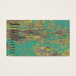 Peeling Yellow and Green Paint on Wood Business Card