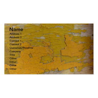 Peeling Yellow Paint Double-Sided Standard Business Cards (Pack Of 100)
