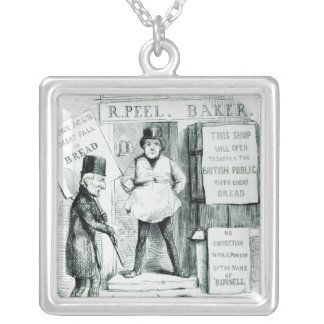 Peel's Cheap Bread Shop Silver Plated Necklace