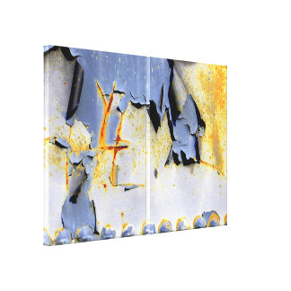 Peels, Rust and Rivets Wrapped Canvas Print