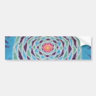 Peep Hole Mandala Tie Dye Sticker Car Bumper Sticker