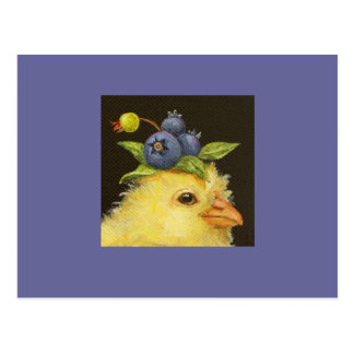 peep with blueberries postcard 2