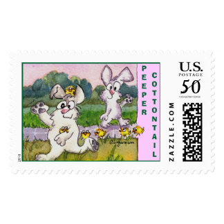 Peeper Cottontail Custom Postage Stamps