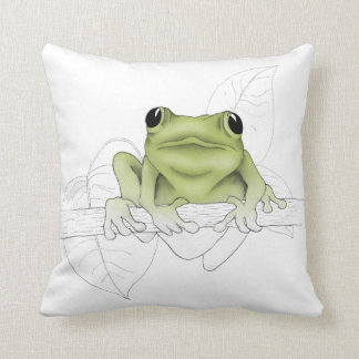Peeper the Frog Throw Pillow