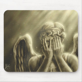 Peeping Angel Mouse Pad