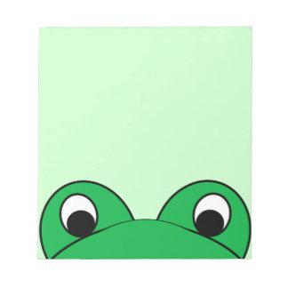 Peeping Frog Notepad