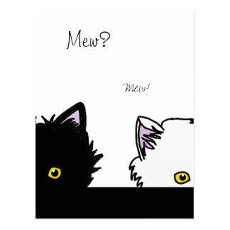 Peeping Kittens Postcard