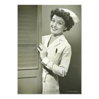 Peeping Nurse Card