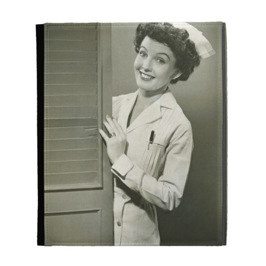 Peeping Nurse iPad Folio Covers