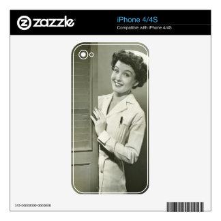 Peeping Nurse iPhone 4S Skin