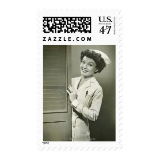 Peeping Nurse Postage