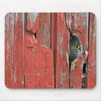 Peeping Tom Cat Mouse Pad