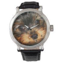 Peeping  Yorkie Wrist Watch