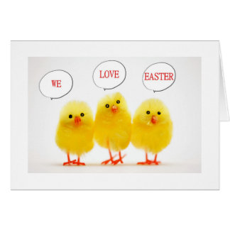 "PEEPS COMING BY ""WE LOVE EASTER AND YOU!"" CARD"
