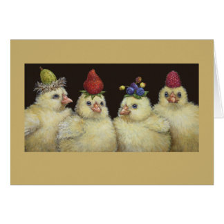 Peeps on Berry Hat Night card