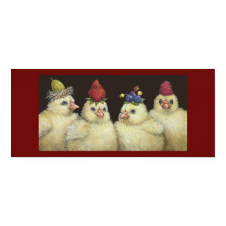 Peeps on Berry Hat Night flat card