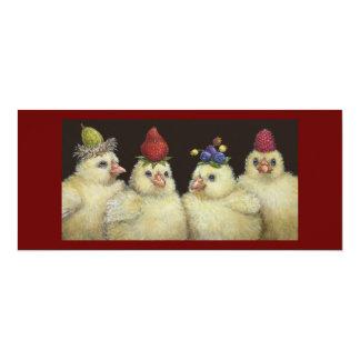Peeps on Berry Hat Night flat card Invite