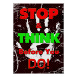 Peer Pressure Poster - Stop & Think Before You Do! Poster