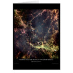 Peering into the Heart of the Crab Nebula Greeting Card