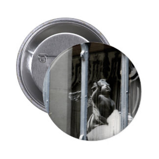 Peering Out Pinback Button