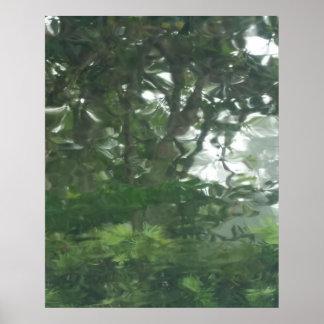 Peering Through the Rain 1 - Abstract Photo Poster