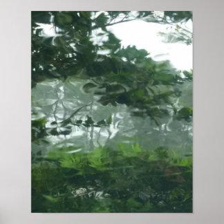Peering Through the Rain 2 - Abstract Photo Poster