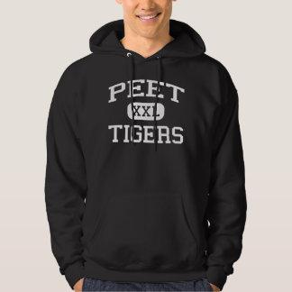 Peet - tigres - joven - Cedar Falls Iowa Sudaderas Con Capucha