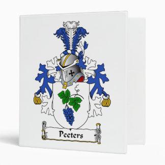 Peeters Family Crest Vinyl Binder