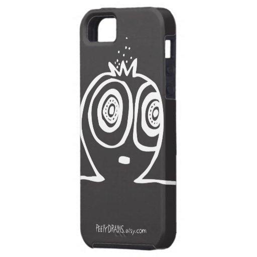 Peety dibuja - cautivado [el negro] funda para iPhone SE/5/5s
