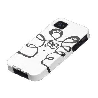 Peety dibuja - las fritadas blancas iPhone 4 carcasa