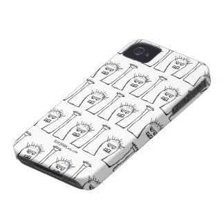 Peety Draws - What's Up, Chocolate? iPhone 4 Case