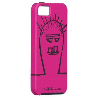 Peety Draws - What's Up [Pink] iPhone SE/5/5s Case