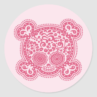 Peewee DOD -pink Classic Round Sticker