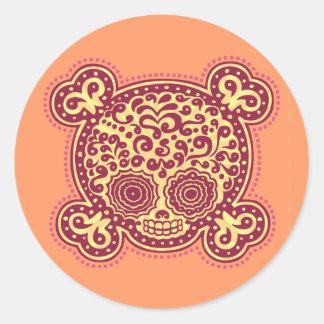 Peewee DOD -red/orange Classic Round Sticker
