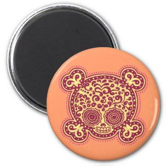 Peewee DOD - rojo/naranja Imán Redondo 5 Cm