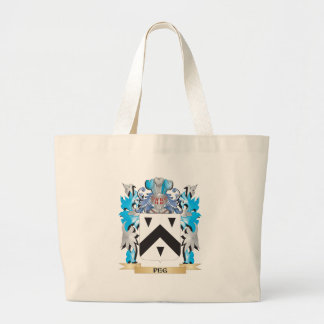Peg Coat of Arms - Family Crest Tote Bag