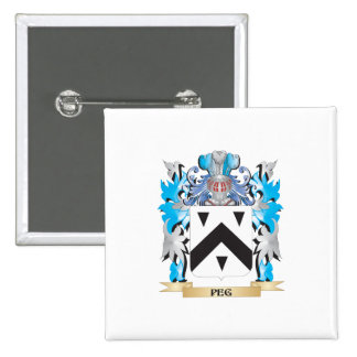 Peg Coat of Arms - Family Crest Buttons