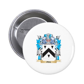 Peg Coat of Arms - Family Crest Pin