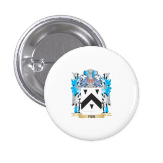 Peg Coat of Arms - Family Crest Pinback Button